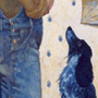 A man with a dog.150�80 cm,canvas, oil.