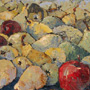 Pears. 51�34 cm, canvas, oil