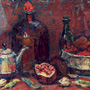 Still-life with pomegranates.30�60 cm, canvas, oil